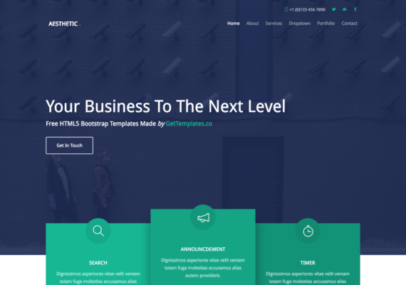 aesthetic bootstrap template
