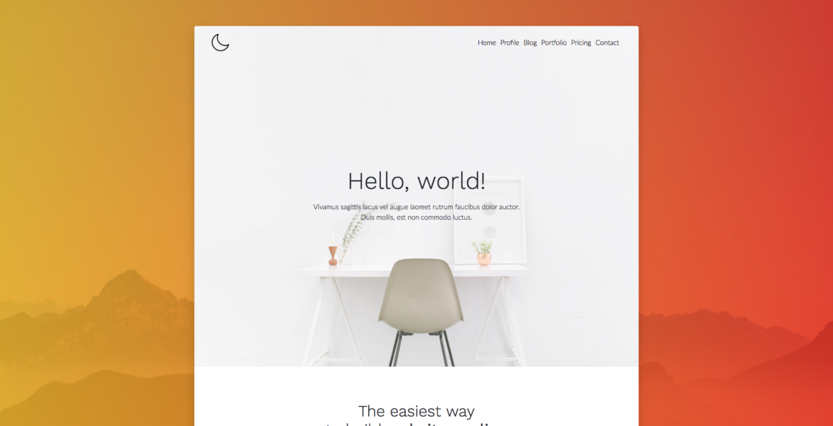 Moon minimal bootstrap template